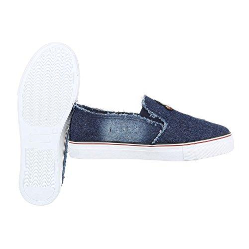 Ital-Design - Zapatillas de casa Mujer Blau 376