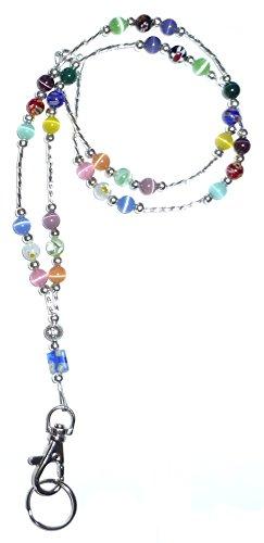 - Hidden Hollow Beads Women's Beaded Lanyard 34 Inches, SUPER SLIM Multi - Breakaway