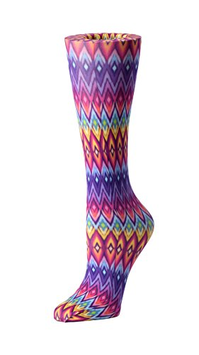 Cutieful Women's Nylon 8-15 Mmhg Compression Sock Rainbow Diamond from Cutieful