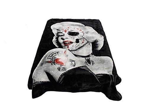 """Marilyn Monroe """"Zombie"""" Regal Comfort Sherpa Faux Mink Fleec"""