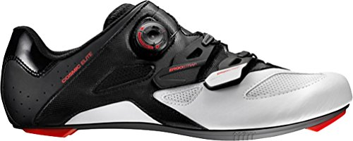 Mavic Cosmic Elite Cycling Shoe - Men's Black/White/Firey Red, US 13.0/UK 12.5