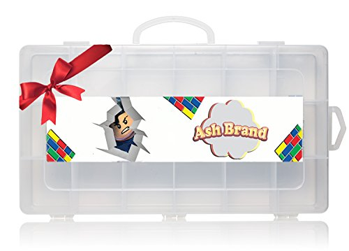 [Video Mini Figures Case Organizer by Ash Brand| Legit carrying case toy Box With Handle| Large Compartments| Fits Up to 30 Action figurines characters (up to 3 cm)| Beautiful movie minifigures] (8 People Costumes)