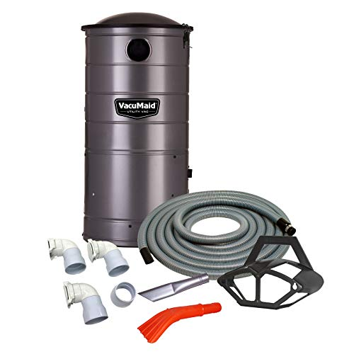 (VacuMaid UV150CKP3 Extended Life Wall Mounted Commercial Vacuum with 50 ft. Car Care Kit (Unit and Kit Plus 3 Inlets))