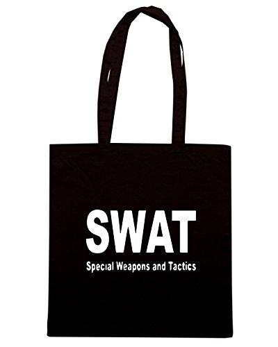 T-Shirtshock - Bolsa para la compra TM0536 swat Negro