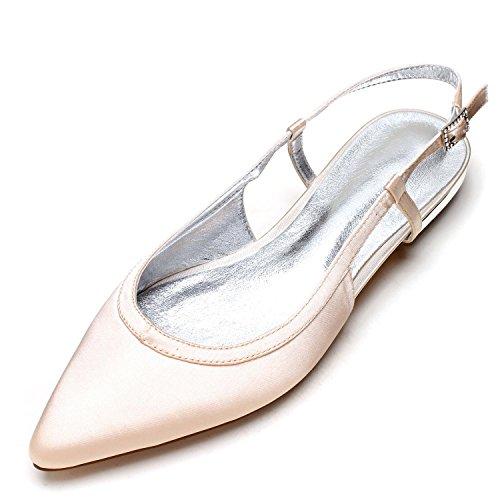 Ivoire Toe Taille Chaussures 19 L Soie Femmes Satin Made De En Mariage 5047 Court Pour Champagne yc Fermé Shoe Sandales PqZwqa