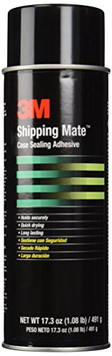 3M Case Seal Clear Shipping-Mate Case Sealing Adhesive, (Net weight: 17.3 oz.) 24 Fluid Ounce Aerosol