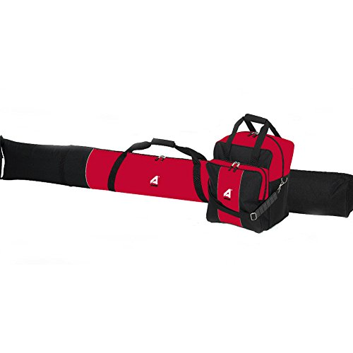 Athalon Single Ski Bag & Boot Bag Combo Black and Red