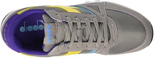 Diadora Run 90, Sandalias con Plataforma para Hombre Gris
