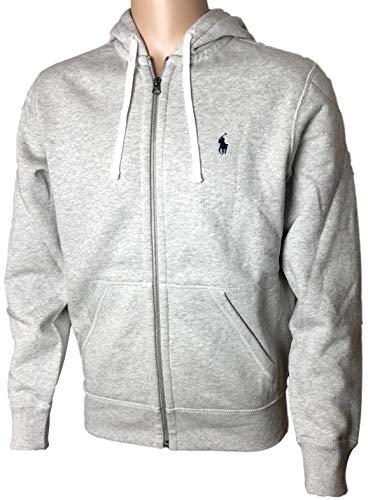 Polo Ralph Lauren Classic Full-Zip Fleece Hooded Sweatshirt - S - GreyHth