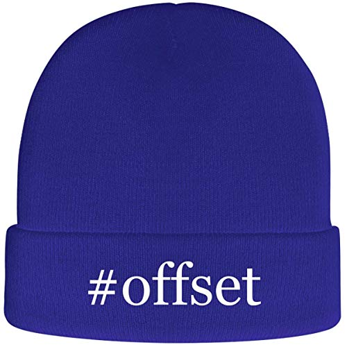 One Legging it Around #Offset - Soft Hashtag Adult Beanie Cap, Blue (What An Offset Umbrella Is)