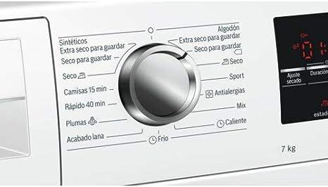 Bosch WTG86262ES Independiente Carga frontal 7kg B Blanco ...