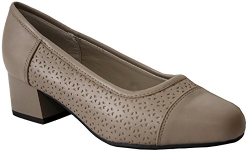Reino formal con con Tamaños de bajo estampado Unido y Seta 8 de deporte oficina 3 Plus Zapatillas tacón para Comfort Zapatos mujer nx7TYv8wqv