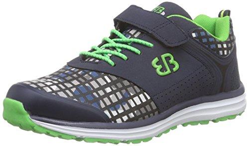 Bruetting Print VS - Zapatillas de running de Lona para niño Azul Blau (Grau/grün) 35