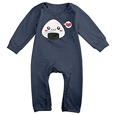 Dadada Boy's & Girl's Cute Cool Onigiri Long Sleeve Climbing Clothes