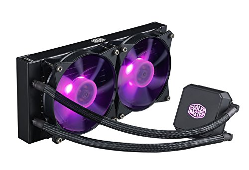 Cooler Master MasterLiquid LC240E RGB All-in-one CPU Liquid Cooler with Dual Chamber Pump Latest Intel/AMD Support (MLA-D24M-A18PC-R1) (Best Water Cooling Setup)