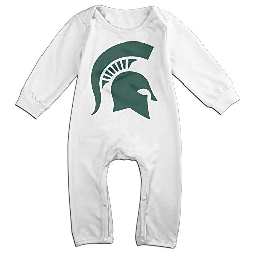 [Dara Michigan State University Newborn Babys Long Sleeve Romper Bodysuit Outfits White 24 Months] (Making Elf Costume)