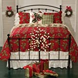 66'' x 86'' Twin Quilt, Holly Red