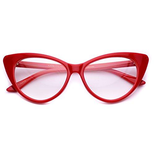 Cat Eye Glasses Vintage Inspired Mod Fashion Clear Lens - Vintage Cateye Glasses