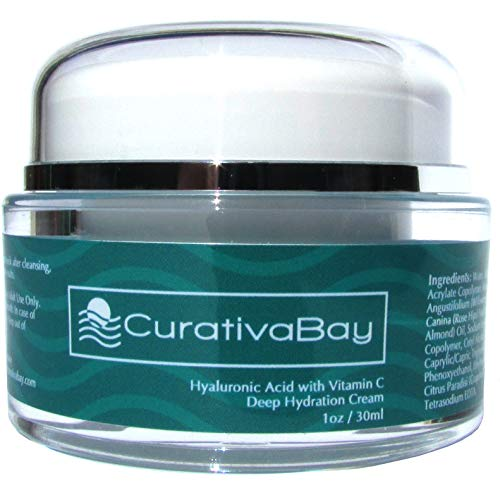 Hyaluronic Acid Cream Deep Hydration Skincare Moisturizer, with Vitamin C 98 Naturally Derived, Reduces Signs of Aging for All Skin Types