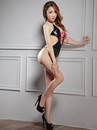 Nightwear Ru Mesh Black Lace Sleepwear Underwear V Babydoll Womens Lingerie Xiang x7n68RwqBB