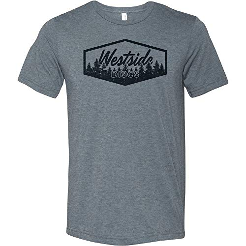 Westside Discs Trees Short Sleeve Disc Golf T-Shirt - Gray - L