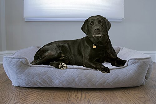 Arlee 59-01005CLS Cuddler Lounger And Cuddler Pet Bed, Large/X-Large, Cobblestone Taupe