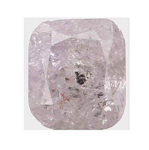 Natural Loose Diamond Cushion Pink Color I3 Clarity 3.70X3.30X2.40 MM 0.28 Ct L5476 ()