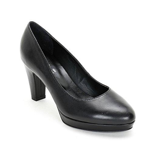 Alesya Scarpe&Scarpe - Zapatos de Salón con Plataforma, de Piel - 39,0, Negro