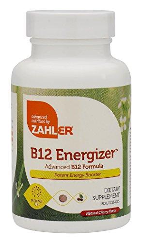 Zahler B12 Energizer, Potent Energy Booster, Vitamin B12 Methylcobalamin, Certified Kosher, 1000 MCG (180 Lozenges)