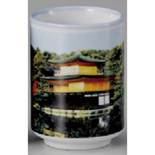 Kyoto style director Kinkakuji Temple [64 x 90 mm 200 cc] Japanese souvenir Ukiyo-e giftTea Cup Sushi Art Authentic Old Japan Beauty