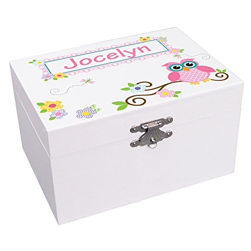 Personalized Calico Owl Ballerina Jewelry Box by MyBambino