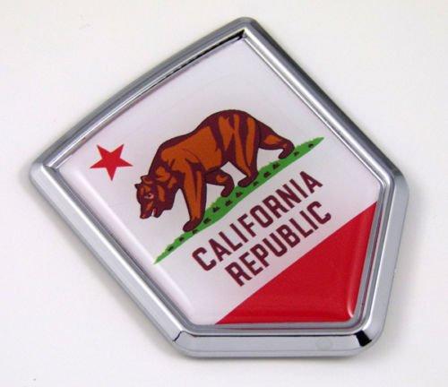 California CA USA State Flag Car Chrome Emblem Decal Sticker Bike Laptop Boat 3dd Sticker Badge