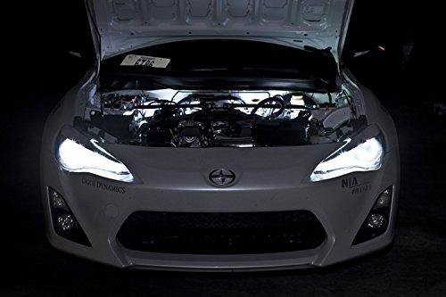 2009-2014 Nissan 370Z Single-Color Standard Engine Bay LED Kit, Cool White