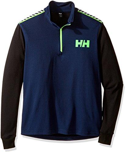 Helly Hansen Men's HH Active Flow 1/2 Zip Long Sleeve Base Layer Shirt, Evening Blue, Medium