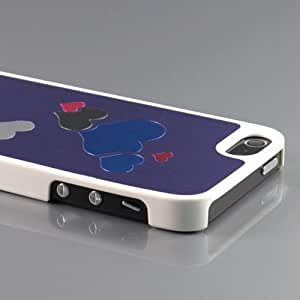 ZuGadgets High Quality iPhone 5 5G Colorful Hearts Premium Plating Plastic Skin Case Cover Shell -Purple (7945-6)