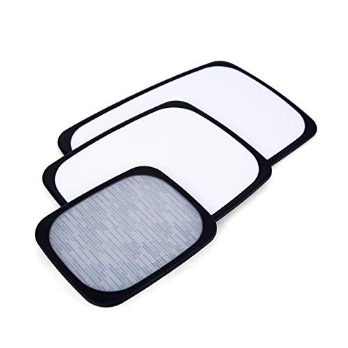 (Sabatier 5172588 3-Piece All-Purpose Non-Slip Plastic Cutting Board Set, Assorted Sizes, White/Black)