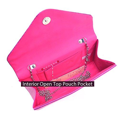 Flap Clutch Glitter Bag Ivory Purse Evening Handbag Frosted Sequin Womens Envelope Party 6Cx5qq