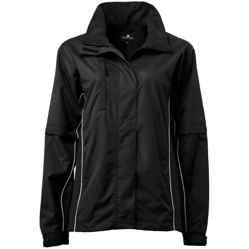(The Weather Company Golf- Ladies Rain Jacket Black)