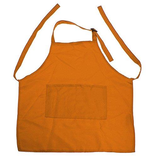 Interesting® Kinder Kinder Plain Schürze Küche kochen backen Kochen Bib Handwerk Kunst Malerei Orange
