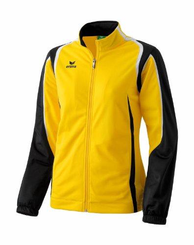 erima Damen Polyesterjacke Razor, gelb/schwarz/weiß, 36, 102113