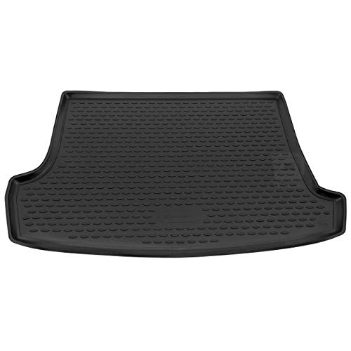 Novline MAT240 Custom Tailored Fit Black Rubber Boot Liner with Raised Boot Floor