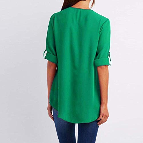 T Manches Bleu Shirt Clair AiBarle Mode dcontracte Longues Loose Femme Tops Top Green Chemisier XL PagZBH8