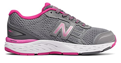 宿るボタンスポーツマン(ニューバランス) New Balance 靴?シューズ レディースランニング 680v5 Steel with Pink Glo スティール ピンク グロー US 11 (28cm)