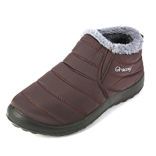 Gracosy Warm Snow Boots, Winter Warm Ankle Boots,Fur Lining Boots,Waterproof Thickening Winter Shoes...