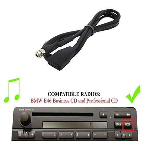 Drimfly BMW 3 E46 AUX Input Adaptor,Female 3.5MM Auxiliary Input Adaptor CD Changer Cable for BMW 325i 325ci 325xi 330i 330ci 330xi M3