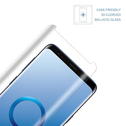 [2pack] for Samsung Galaxy S9 Tempered Glass Screen Protector, Eastoan S9 Screen Protectors [9H Hardness] [Super Clear] [ No Foam ][NO Scratch] Compatible Samsung Galaxy S9 Clear by Eastoan (Image #1)