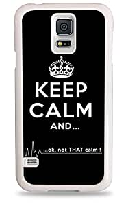 Keep Calm And Ok Not That Calm Flatline Galaxy S5 White Silicone Case