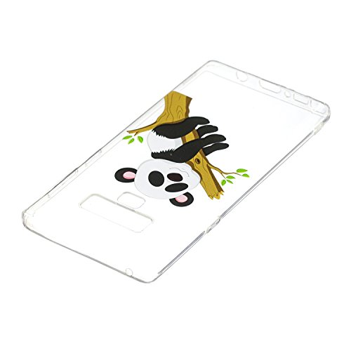 Totem Panda BONROY Souple Transparent Samsung Extrêmement Etui Note Flexible arbre Note Mince Galaxy 9 Samsung Silicone 9 Protection pour Cover Original Gel et Housse Black Case en Motif TPU Coque Galaxy ffrq6w