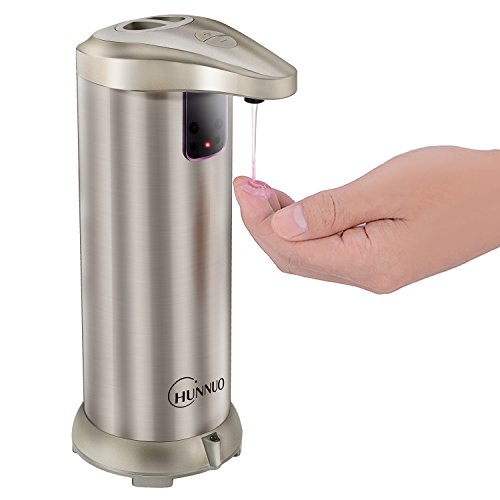 Automatic Soap Dispenser, CHUNNUO 280ML Stainless Steel Touchless Hand Free Motion Sensor Autosoap Dispenser for Kitchen and Bathroom[ Newest Version ]