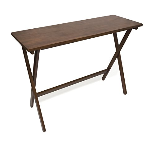 Lipper International 503WN Folding Buffet Table, Brazilian Pinewood with Walnut Finish, 42 x 15.25 x 29.75
